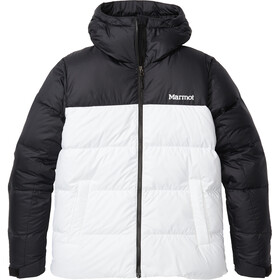 Marmot Guides Chaqueta Plumón Capucha Mujer, white/black